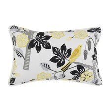 <strong>Chooty & Co</strong> Small Talk Blackbird Corded Cotton Pillow