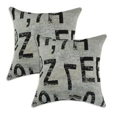Go Figure Cotton Pillow (Set of 2)