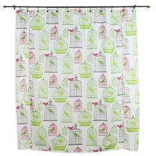 Flight of Fancy Standard Cut Cotton Shower Curtain