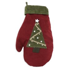 Passion Suede Cinnabar Tree and Star Mitten