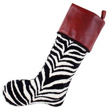Zebra Tinga Rojo Lined Trimmed Stocking