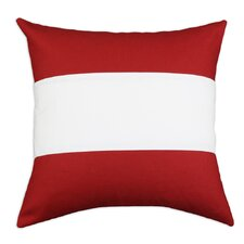 Nile Poppy-Duck 3 Pieced Horizontal  Linen Pillow