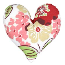 Sydney Rainforest Heart Shaped Cotton Pillow