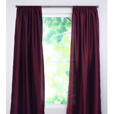 Shantung Rod Pocket Curtain Single Panel