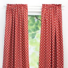 Ikat Dot Rod Pocket Curtain Single Panel