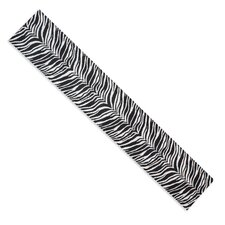 Zebra Hemmed Plush Runner