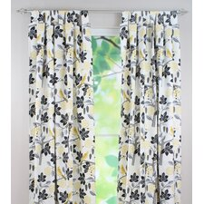 "Small Talk Blackbird 84"" Tab Top Curtain Panel"