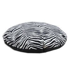 Zebra Simply Soft Round Dog Pillow