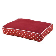 Passion Suede Ikat Dot Dog Pillow