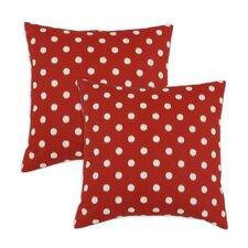 Ikat Dot Cotton Pillow (Set of 2)