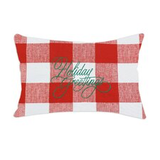 """Anderson Embroidered """"Holiday Greetings"""" Pillow"""