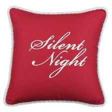 "Circa Solid Embroidered ""Silent Night"" Pillow"