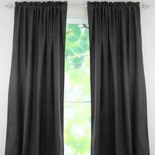 Duck Cotton Rod Pocket Curtain Single Panel