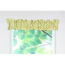 Chit Chat Cotton Rod Pocket Ruffled Sleeve Topper Curtain Valance