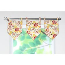 Maya Poppy Stitched V Curtain Valance