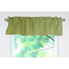 Circa Solid Rod Pocket Tailored Curtain Valance
