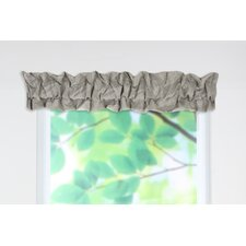 <strong>Chooty & Co</strong> Dillion Embroidered Cotton Blend Rod Pocket Ruffled Sleeve Topper Curtain Valance