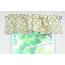 Macie Linen Rod Pocket Ruffled Curtain Valance