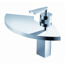 Fan Single Hole Bathroom Faucet with Single Handle