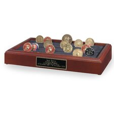 Table Top 11 Row Challenge Coin Holder Urn