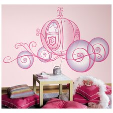 <strong>Room Mates</strong> Licensed Designs Princess Carriage Wall Decal