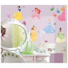 37-Piece Licensed Designs Disney Princess Peel and Stick Wall Decal