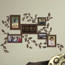<strong>Room Mates</strong> Deco Family Frames Peel and Stick Wall Decal