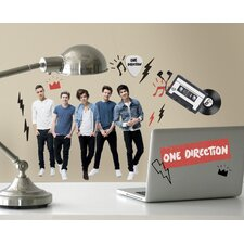 "28 Piece Commonwealth 1 Direction ""I Love 1D"" Peel and Stick Wall Decal Set"