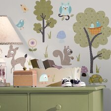 Studio Designs 89 Piece Woodland Animals Wall Decal Set