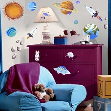 Studio Designs 35-Piece Outer Space Wall Decal