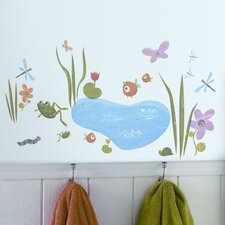 Studio Designs 40 Piece Hoppy Pond Wall Decal Set