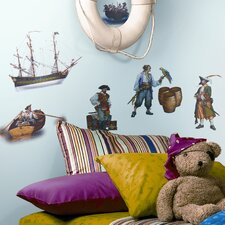 Studio Designs 17 Piece Pirate Wall Decal Set