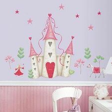 Studio Designs 21 Piece Princess Castle Giant Wall Decal Set