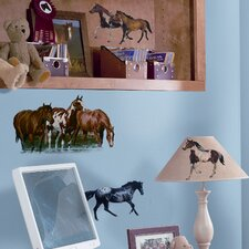 Studio Designs 24 Piece Wild Horses Wall Decal Set