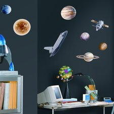Studio Designs 24-Piece Space Travel Wall Decal