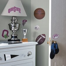 Collegiate Sports 22 Piece Appliqué Ohio State Buckeyes Wall Decal Set