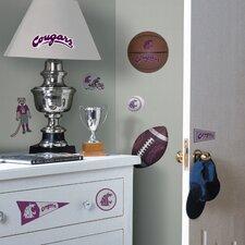 Collegiate Sports 23 Piece Appliqué Washington State University Cougars Wall Decal Set