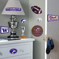Collegiate Sports 25 Piece Appliqué University of Washington Huskies Wall Decal Set