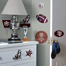Collegiate Sports 21 Piece Appliqué Texas A and M Wall Decal Set