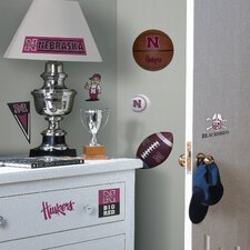 Collegiate Sports 21 Piece Appliqué Nebraska Huskers Wall Decal Set