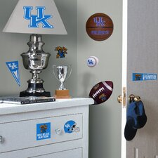 Collegiate Sports 24 Piece Appliqué University of Kentucky Wildcats Wall Decal Set