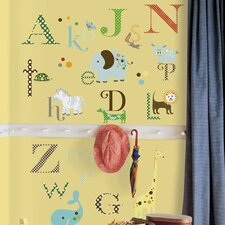 <strong>Room Mates</strong> Studio Designs 107-Piece Studio Designs Animal Alphabet Wall Decal