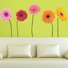 Room Mates 25 Piece Deco Gerber Daisies Wall Decal Set
