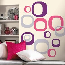 Room Mates Deco 30 Piece Modern Ovals Wall Decal Set