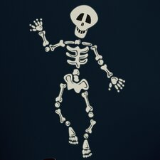 Seasonal 37 Piece Build Your Own Skeleton Wall Decal Set