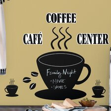Room Mates 22 Piece Deco Coffee Cup Chalkboard Wall Decal Set