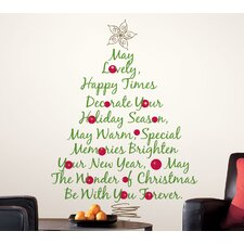 <strong>Room Mates</strong> Seasonal Christmas Tree Quote Giant Wall Decal