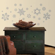 <strong>Room Mates</strong> Seasonal Glitter Snowflakes Wall Decal