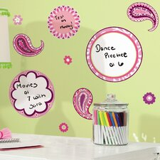 Room Mates Deco Paisley Dry Erase Wall Decal