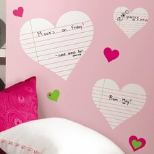 <strong>Room Mates</strong> Room Mates Deco Heart Notepad Dry Erase Wall Decal